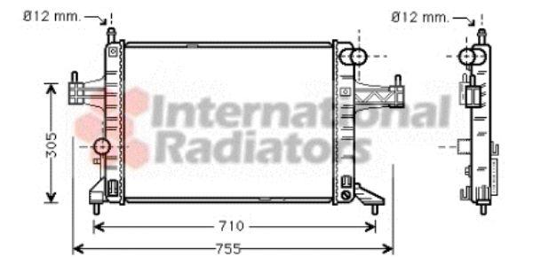 Radiateur, refroidissement du moteur - VAN WEZEL - 37002306