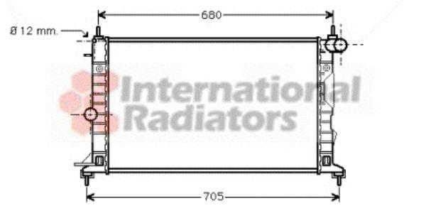 Radiateur, refroidissement du moteur - VAN WEZEL - 37002323