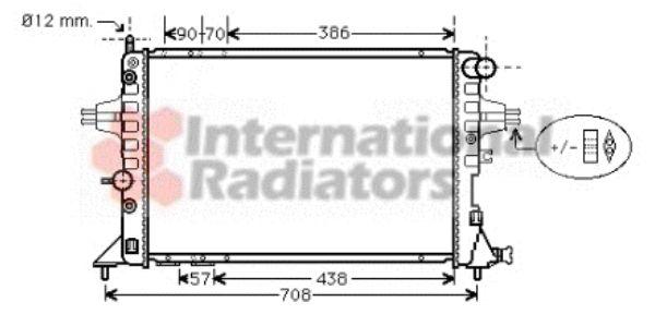 Radiateur, refroidissement du moteur - VAN WEZEL - 37002329