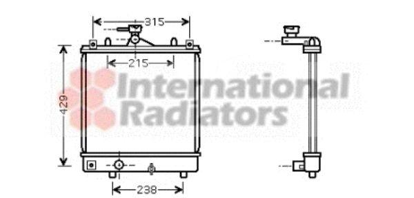 Radiateur, refroidissement du moteur - VAN WEZEL - 37002330