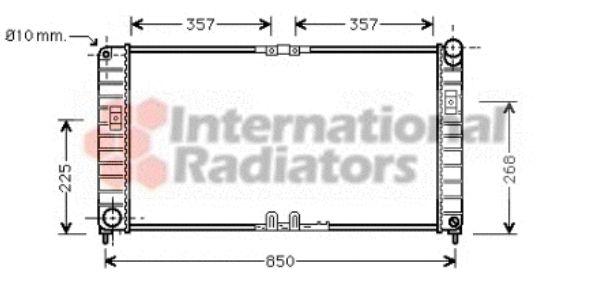 Radiateur, refroidissement du moteur - VAN WEZEL - 37002332