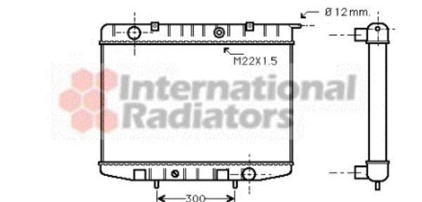 Radiateur, refroidissement du moteur - VWA - 88VWA37002337