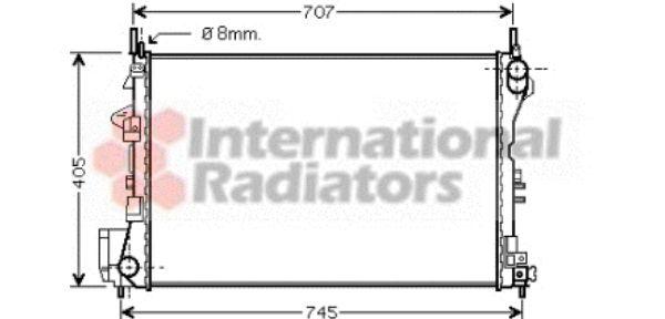 Radiateur, refroidissement du moteur - VAN WEZEL - 37002338