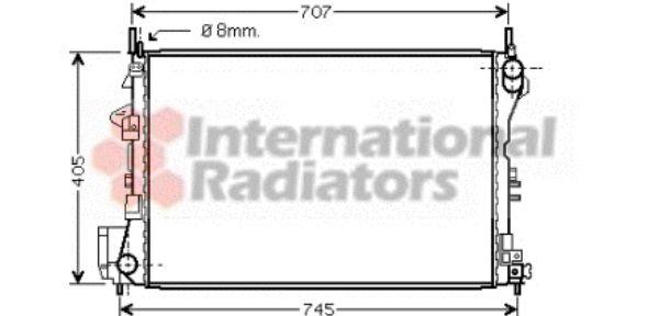 Radiateur, refroidissement du moteur - VAN WEZEL - 37002339