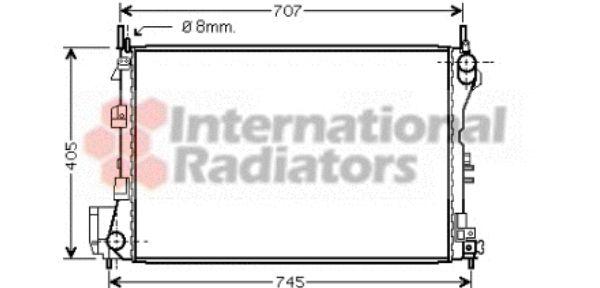 Radiateur, refroidissement du moteur - VAN WEZEL - 37002340
