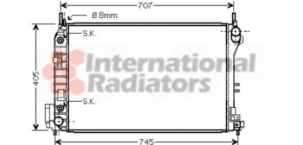 Radiateur, refroidissement du moteur - VAN WEZEL - 37002341