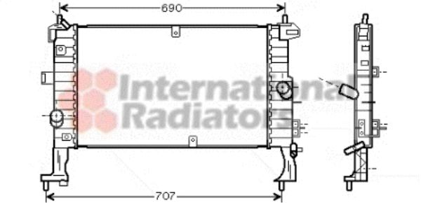 Radiateur, refroidissement du moteur - VAN WEZEL - 37002346
