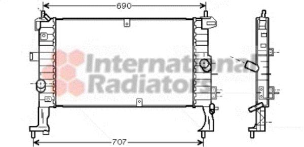 Radiateur, refroidissement du moteur - VWA - 88VWA37002346