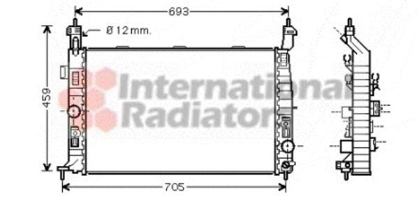 Radiateur, refroidissement du moteur - VAN WEZEL - 37002348