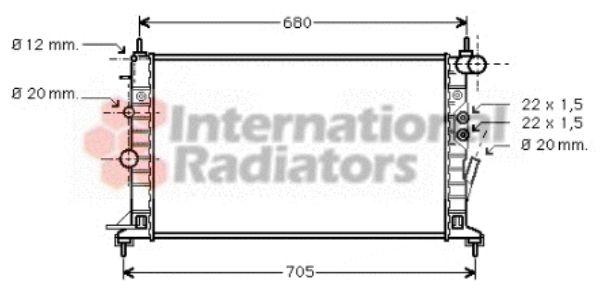 Radiateur, refroidissement du moteur - VWA - 88VWA37002359
