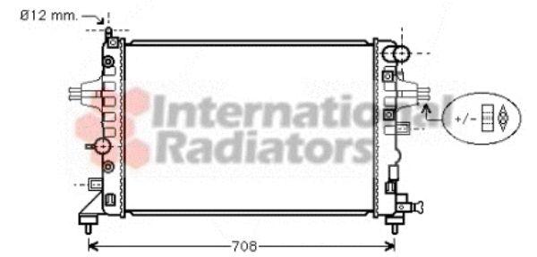 Radiateur, refroidissement du moteur - VAN WEZEL - 37002362