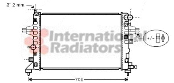 Radiateur, refroidissement du moteur - VWA - 88VWA37002362