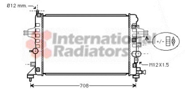 Radiateur, refroidissement du moteur - VAN WEZEL - 37002363