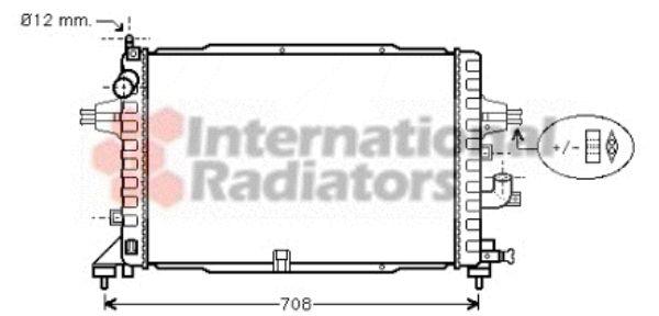 Radiateur, refroidissement du moteur - VAN WEZEL - 37002364