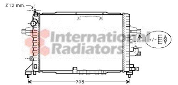 Radiateur, refroidissement du moteur - VAN WEZEL - 37002365