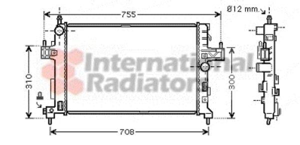 Radiateur, refroidissement du moteur - VAN WEZEL - 37002380