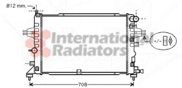 Radiateur, refroidissement du moteur - VAN WEZEL - 37002381
