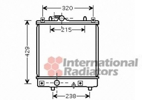 Radiateur, refroidissement du moteur - VAN WEZEL - 37002382