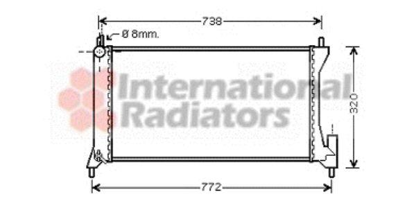 Radiateur, refroidissement du moteur - VAN WEZEL - 37002386