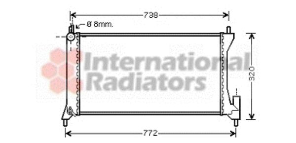 Radiateur, refroidissement du moteur - VWA - 88VWA37002386