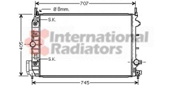 Radiateur, refroidissement du moteur - VAN WEZEL - 37002388