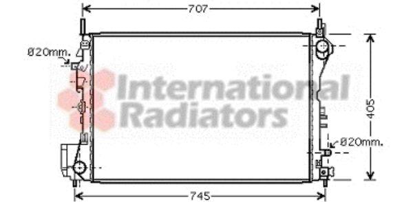 Radiateur, refroidissement du moteur - VAN WEZEL - 37002395