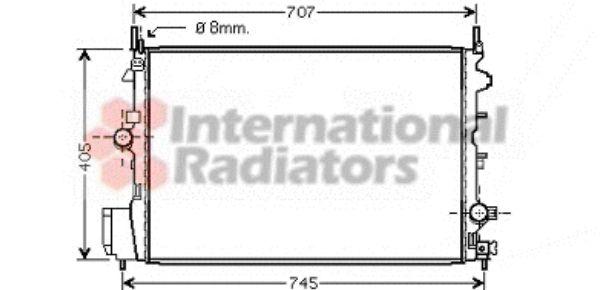 Radiateur, refroidissement du moteur - VAN WEZEL - 37002396