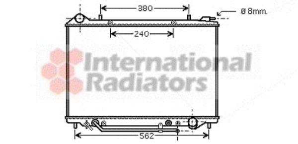 Radiateur, refroidissement du moteur - VAN WEZEL - 37002405