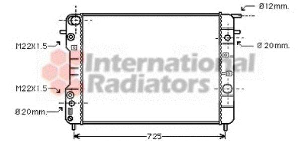 Radiateur, refroidissement du moteur - VAN WEZEL - 37002406