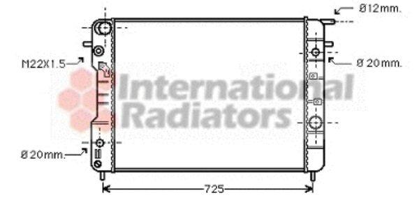 Radiateur, refroidissement du moteur - VAN WEZEL - 37002407