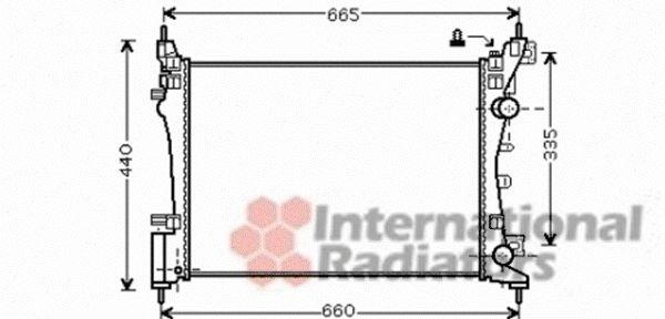 Radiateur, refroidissement du moteur - VAN WEZEL - 37002408
