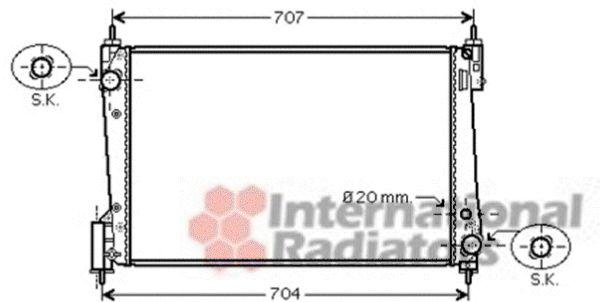 Radiateur, refroidissement du moteur - VAN WEZEL - 37002423