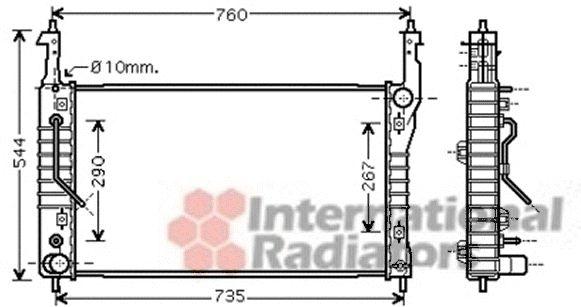 Radiateur, refroidissement du moteur - VAN WEZEL - 37002424
