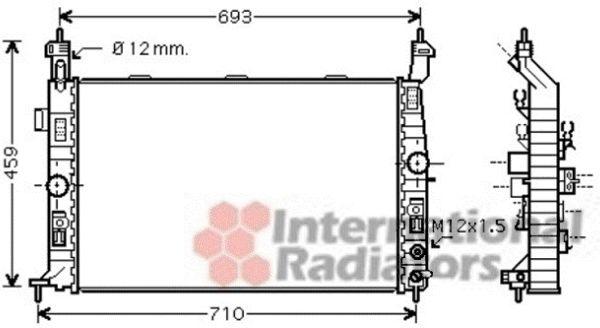Radiateur, refroidissement du moteur - VAN WEZEL - 37002431