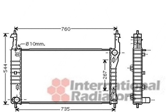 Radiateur, refroidissement du moteur - VAN WEZEL - 37002432