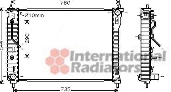 Radiateur, refroidissement du moteur - VAN WEZEL - 37002434