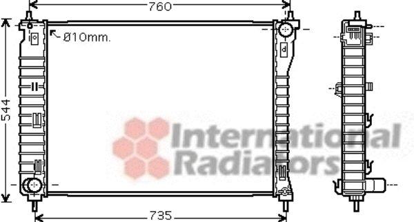 Radiateur, refroidissement du moteur - VAN WEZEL - 37002435