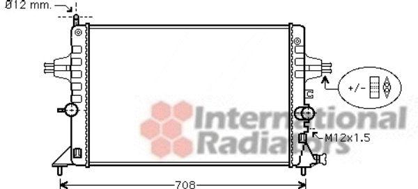 Radiateur, refroidissement du moteur - VAN WEZEL - 37002440