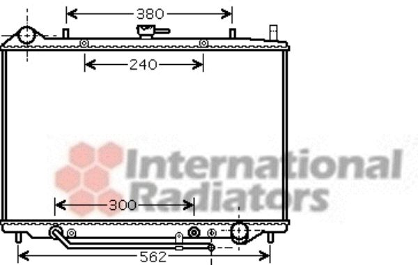 Radiateur, refroidissement du moteur - VAN WEZEL - 37002455