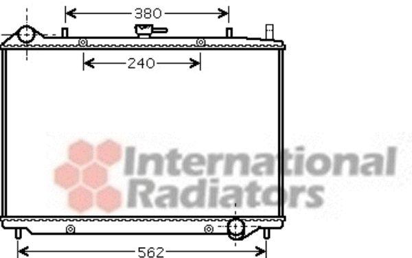 Radiateur, refroidissement du moteur - VAN WEZEL - 37002456