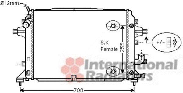 Radiateur, refroidissement du moteur - VAN WEZEL - 37002460