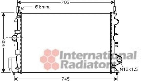 Radiateur, refroidissement du moteur - VAN WEZEL - 37002462
