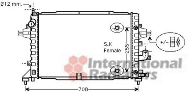 Radiateur, refroidissement du moteur - VAN WEZEL - 37002467