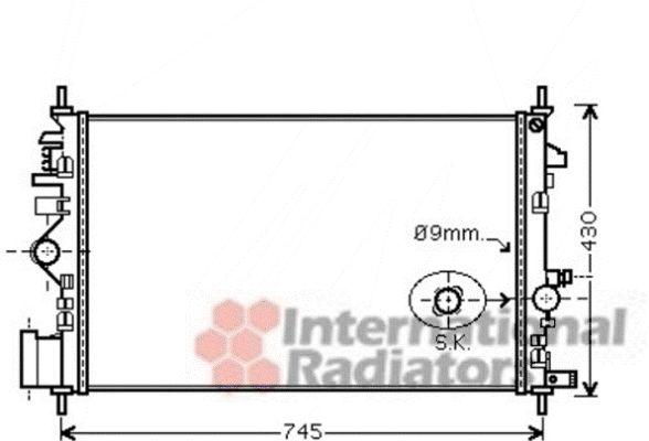 Radiateur, refroidissement du moteur - VWA - 88VWA37002468