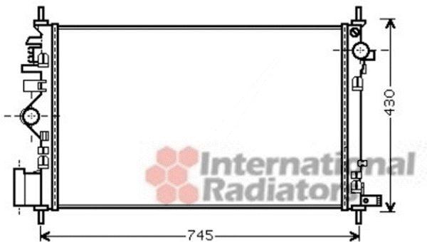 Radiateur, refroidissement du moteur - VAN WEZEL - 37002469