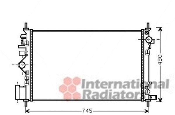 Radiateur, refroidissement du moteur - VAN WEZEL - 37002471
