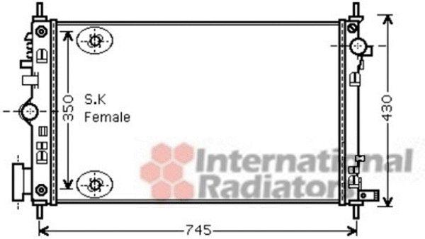 Radiateur, refroidissement du moteur - VAN WEZEL - 37002472