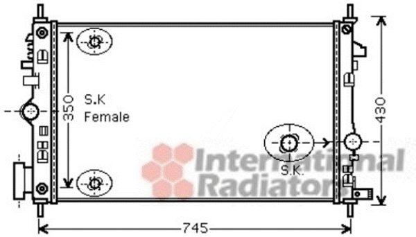 Radiateur, refroidissement du moteur - VAN WEZEL - 37002473
