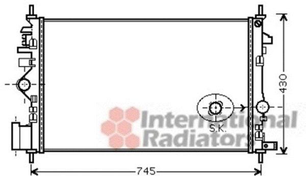 Radiateur, refroidissement du moteur - VAN WEZEL - 37002474