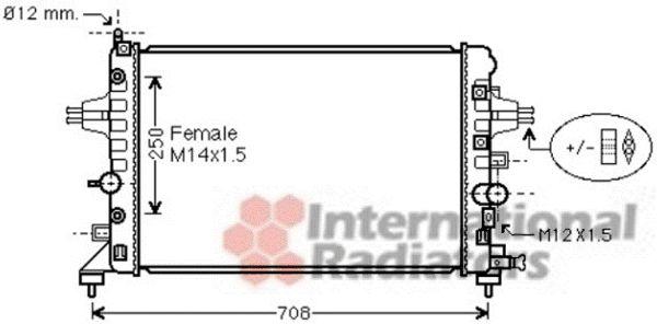 Radiateur, refroidissement du moteur - VAN WEZEL - 37002482